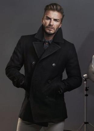 Мужское черное классическое пальто с меховым воротником threadbare вьетнам