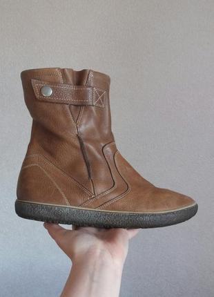 Р.40-41 ecco (оригинал) кожаные ботинки.