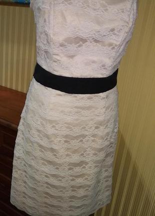 Платье кружевное ажурное бандо