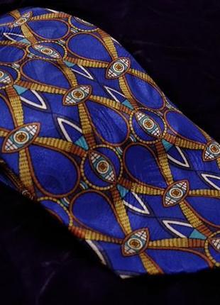 Шелковый синий красивый галстук italo ferretti