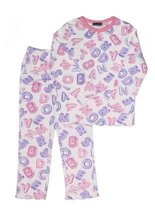 Новая розовая пижама буквы для девочки, original marines, 3773