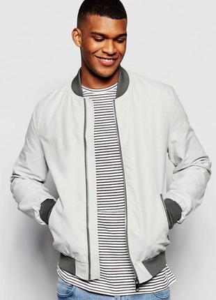 Распродажа мужской стильный качественный коттоновый бомбер куртка river island