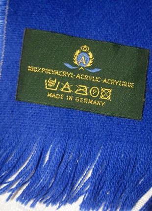 Синий шарф электрик идиго германия 125х28