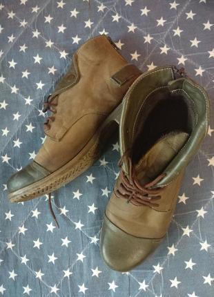 Ботинки, осень, нубук кожа 39 р-р