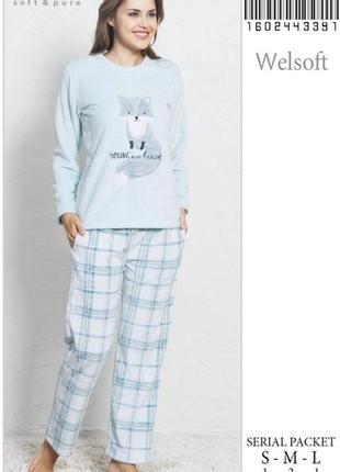 Тёплая пижама с енотом, размер-l.