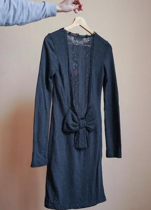 Тепла сукня з відкритою спинкою