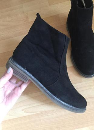 Замшевые сапоги ботинки clarks