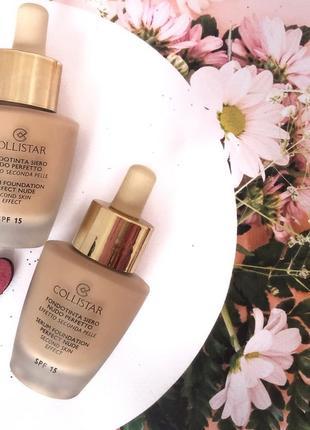 Тональная сыворотка  collistar serum foundation perfect nude second skin effect spf 15