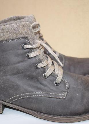Зимние ботинки кожзам р.42 27,5 comforto как rieker полусапоги