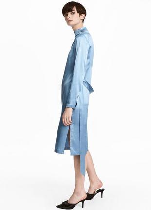 Платье 100% шёлк h&m новое