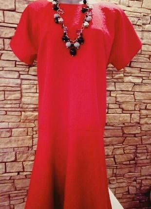 《красный мак》тренд сезона!супер платье из плотного фактурного трикотажа 48-50р2