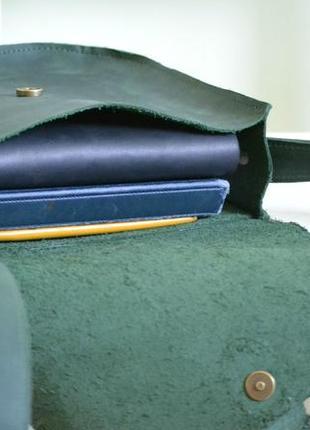 Сумка седло с магнитной застежкой из натуральной кожи2 фото