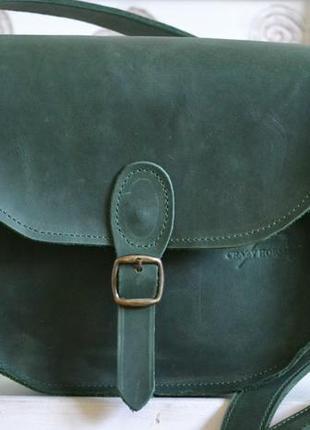 Сумка седло с магнитной застежкой из натуральной кожи1 фото