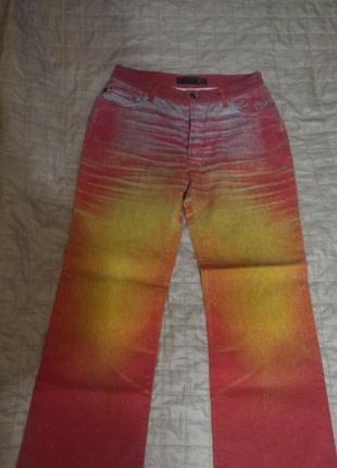 Яркие блестящие итальянские джинсы just cavalli