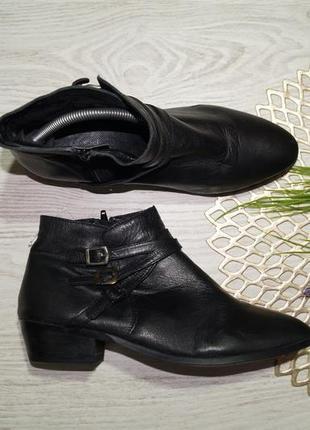 (40/26см) promod! кожа! классные ботинки, полусапожки на низком ходу