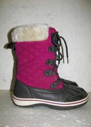 Joe fresh зимние высокие термо сапоги thinsulate шнуровка р.34-35 23 см