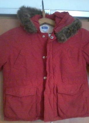 Фирменная зимняя куртка chicco 92 рост