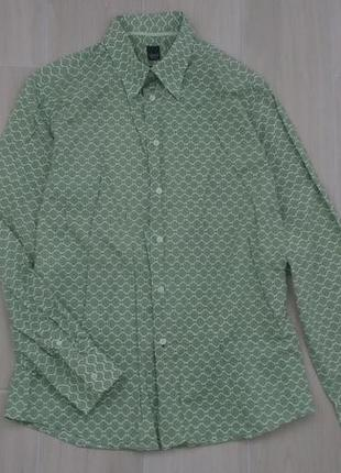 Пог 60 хлопковая рубашка слим !