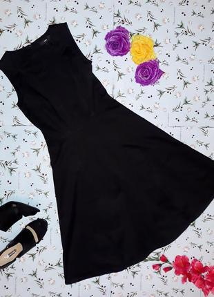 Стильное черное платье h&m, длина миди, размер xs-s