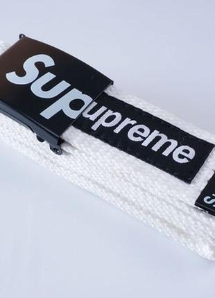 Supreme американский бренд ремень новый тканевый (цвет: белый)