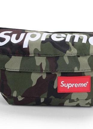Supreme сумка на пояс бананка рюкзак клатч кошелек кенгурушка косметичка камуфляж