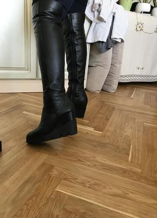 Шикарные сапоги ботфорты  gelmetti italian