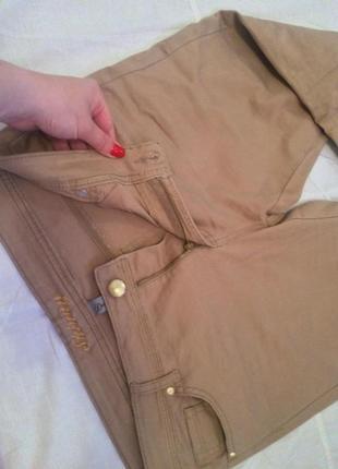 Кремовые джинсы штаны на каждый день - по фигуре - 40/14/42 дешево