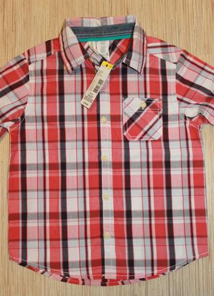 Хлопковая рубашка из сша фирмы toughskins - 5-6лет, 7лет