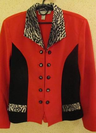 Стильный нарядный костюм пиджак и юбка, фирма algo, канада, р.48-50