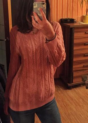 Шерстяной свитер h&m basic