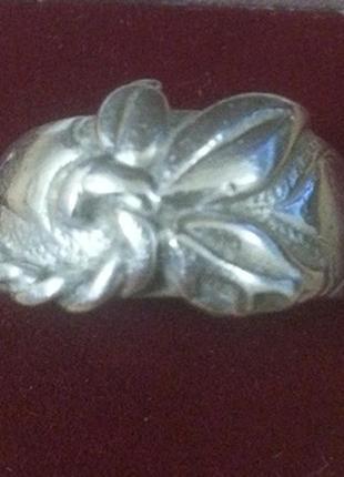 Массивное кольцо серебро 925 пробы