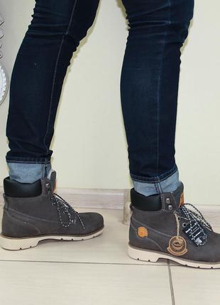 Зимние женские ботинки dockers оригинал натуральный нубук мех 37-41