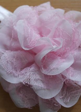 Повязка на голову цветок розовый