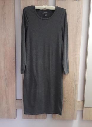 Платье миди базовое. плаття міді