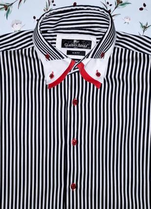 Шикарная дизайнерская рубашка claudio lugli, дорогой бренд, размер 48-50, италия