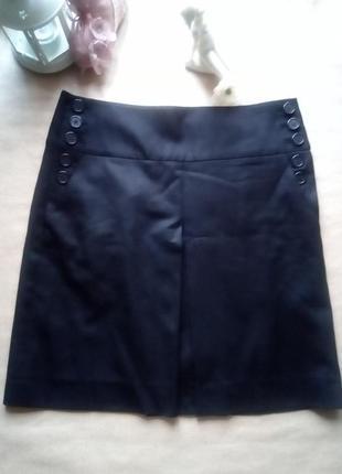 Черная элегантная базовая юбка дорогого бренда j crew