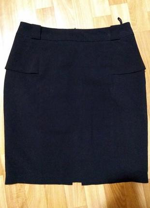 Черная классическая юбка для офиса ostin