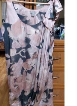 Ассиметричное атласное платье h&m