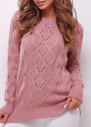 Однотонный вязаный женский свитер (141 mrss)