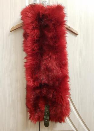 Классный яркий шарф снуд, горжетка diesel из искусственного меха. мех воротник3