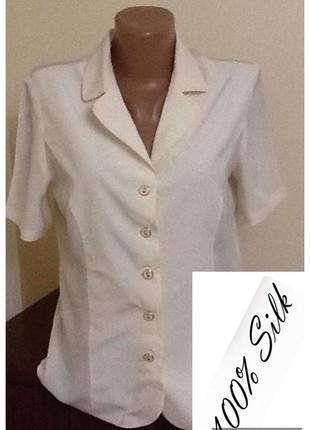Шелковая итальянская блуза от ilia