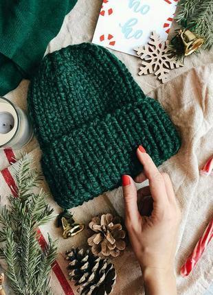 Тёплая стильная шапка♥