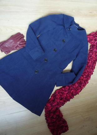 Пальто деми темно синего цвета / androse / 40% шерсть