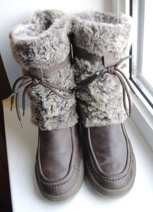 Мембранные кожаные зимние ботинки сапоги ara gore-tex, р.37 (24 см)