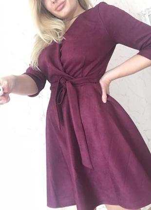 Шикарное новое замшевое платье солнце