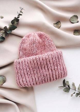 Стильная шапочка из мохера♥