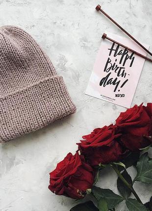 Стильная теплая шапочка♥