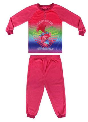 Теплая флисовая пижама для девочки  dreamworks  размер 104-110