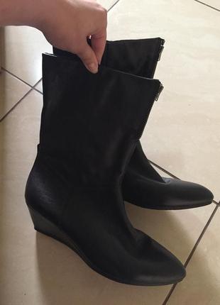 Кожаные сапоги ботинки vagabond