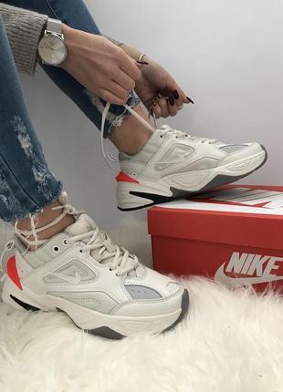 Nike mk2 tekno кроссовки белые новые найк натуральная кожа 36-45